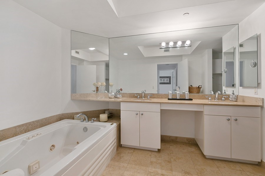 Real Estate Photography - 4779 Collins Ave, Apt 1904, Miami Beach, FL, 33140 - Master Bathroom