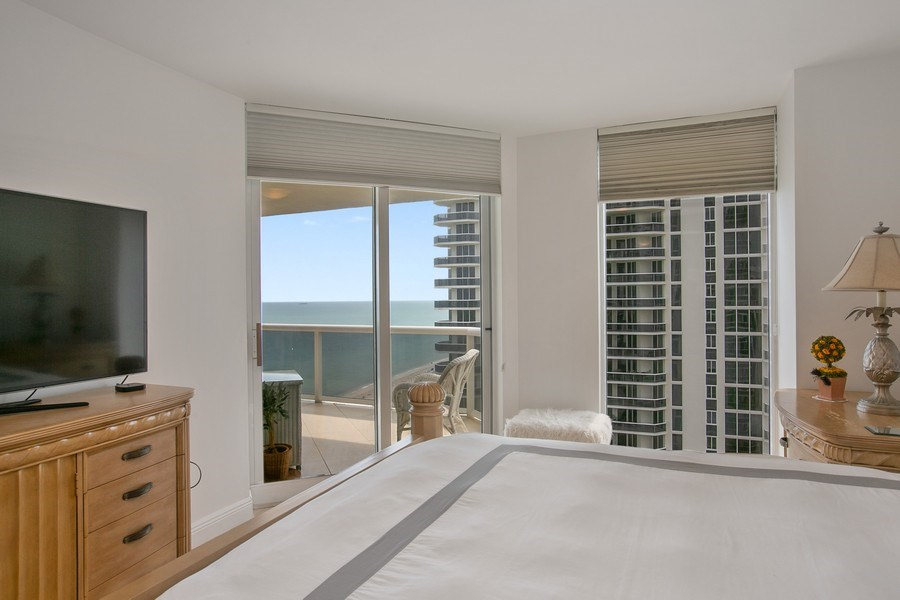 Real Estate Photography - 4779 Collins Ave, Apt 1904, Miami Beach, FL, 33140 - Master Bedroom