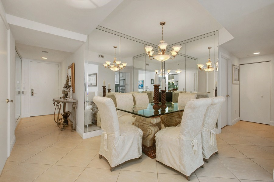 Real Estate Photography - 4779 Collins Ave, Apt 1904, Miami Beach, FL, 33140 - Dining Room