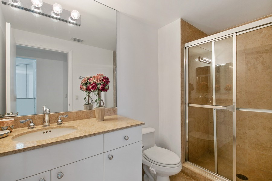 Real Estate Photography - 4779 Collins Ave, Apt 1904, Miami Beach, FL, 33140 - 2nd Bathroom