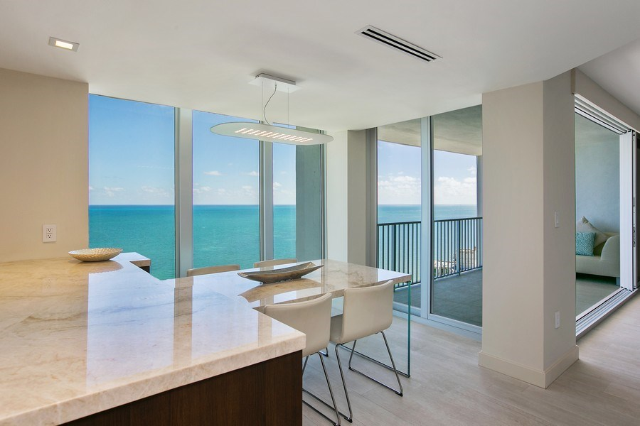 Real Estate Photography - 881 Ocean Dr, Penthouse 27E, Key Biscayne, FL, 33149 - EAT-IN KITCHEN AREA