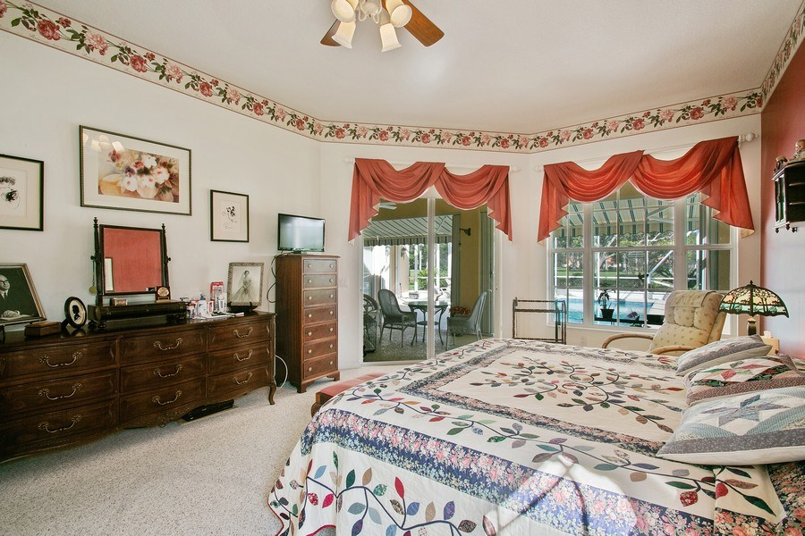 Real Estate Photography - 2172 Vero Beach Lane, West Palm Beach, FL, 33411 - Master Bedroom