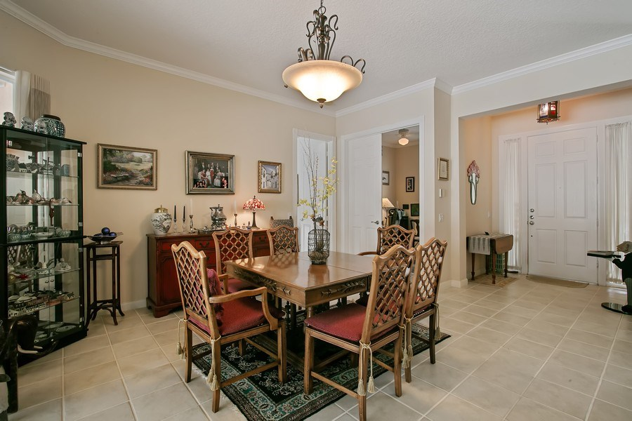 Real Estate Photography - 2172 Vero Beach Lane, West Palm Beach, FL, 33411 - Dining Room
