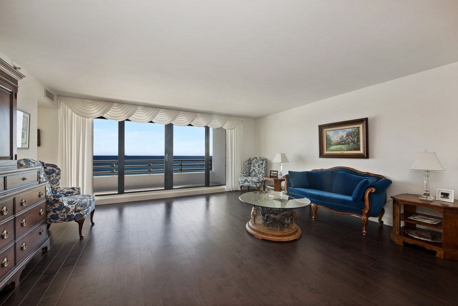 Real Estate Photography - 1500 S Ocean Blvd, Unit S-804, Boca Raton, FL, 33432 - Living Room