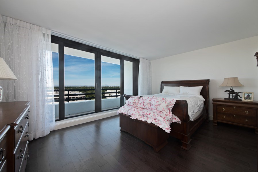 Real Estate Photography - 1500 S Ocean Blvd, Unit S-804, Boca Raton, FL, 33432 - Bedroom