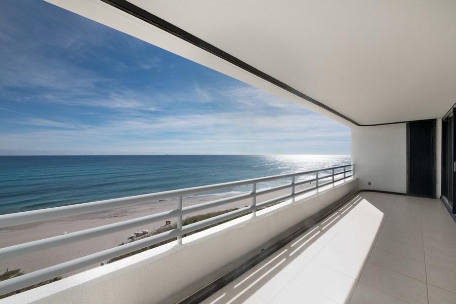 Real Estate Photography - 1500 S Ocean Blvd, Unit S-804, Boca Raton, FL, 33432 - Patio