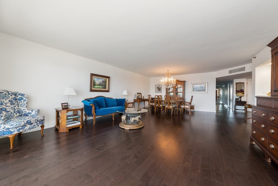 Real Estate Photography - 1500 S Ocean Blvd, Unit S-804, Boca Raton, FL, 33432 - Living Room/Dining Room
