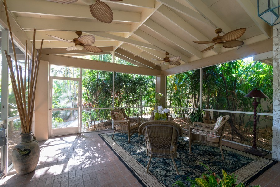 Real Estate Photography - 3031 Riverland Rd, Fort Lauderdale, FL, 33312 - Screened Front Living Porch