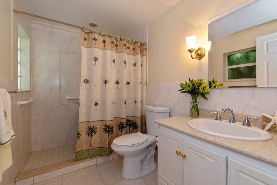 Real Estate Photography - 3031 Riverland Rd, Fort Lauderdale, FL, 33312 - 3rd Bathroom - In- law suite