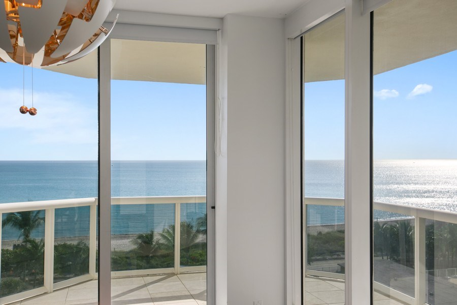 Real Estate Photography - 4775 Collins Ave, Unit 703, MIami Beach, FL, 33140 - Dining Room