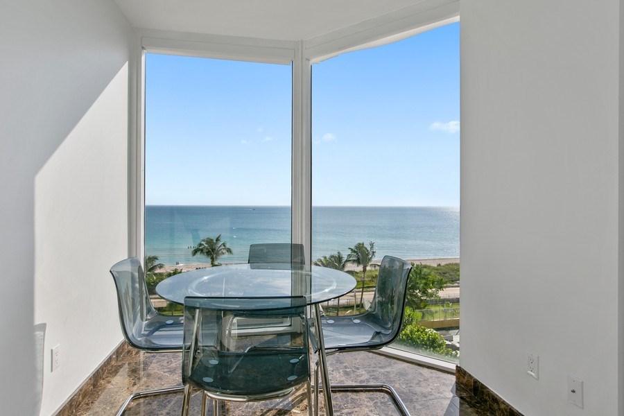 Real Estate Photography - 4775 Collins Ave, Unit 703, MIami Beach, FL, 33140 - Breakfast Nook