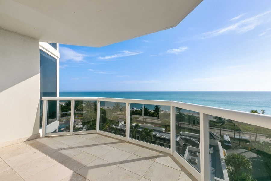 Real Estate Photography - 4775 Collins Ave, Unit 703, MIami Beach, FL, 33140 - Balcony