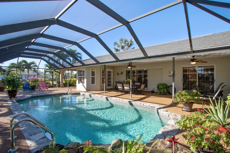 Real Estate Photography - 246 SW 39th St, Cape Coral, FL, 33914 - Rear View