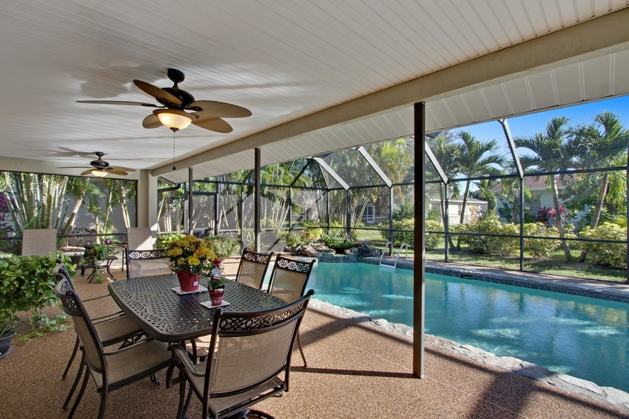 Real Estate Photography - 246 SW 39th St, Cape Coral, FL, 33914 - Lanai