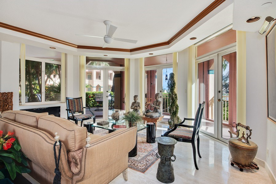 Real Estate Photography - 300 SE 5th Ave, Unit 2140, Boca Raton, FL, 33432 - Living Room