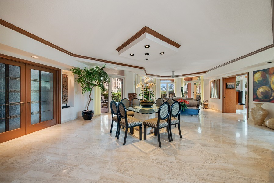 Real Estate Photography - 300 SE 5th Ave, Unit 2140, Boca Raton, FL, 33432 - Living Room / Dining Room