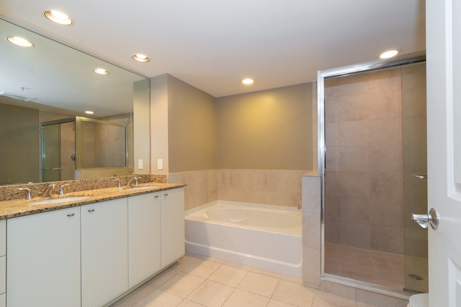Real Estate Photography - 610 W Las Olas Blvd, Unit 1213, Fort Lauderdale, FL, 33312 - Master Bathroom