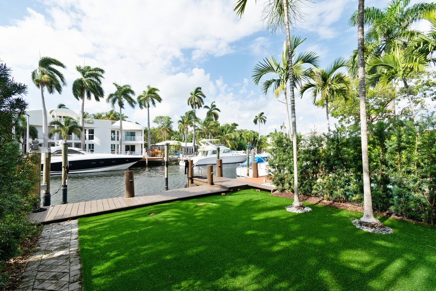 Real Estate Photography - 431 Hendricks isle, Ft lauderdale, FL, 33301 - Rear Yard-Dock