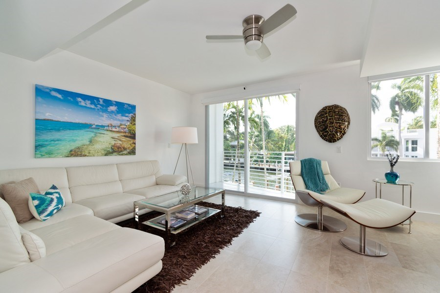 Real Estate Photography - 431 Hendricks isle, Ft lauderdale, FL, 33301 - Living Room
