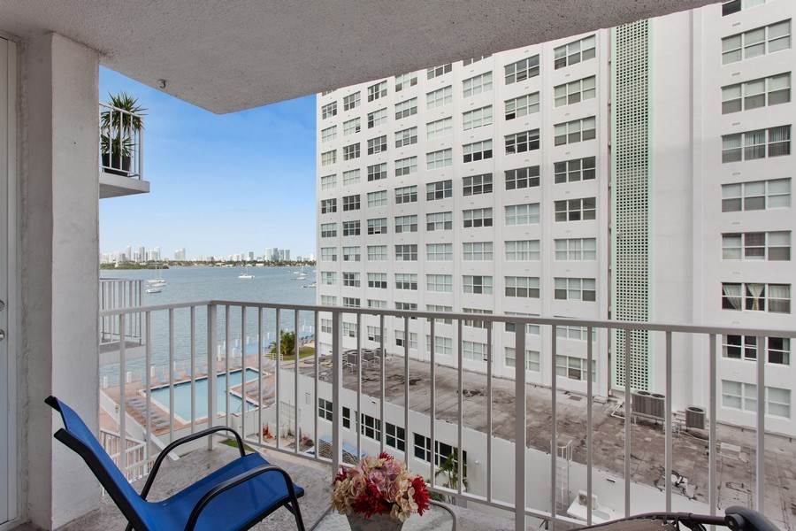 Real Estate Photography - 1228 West Ave, 405, Miami Beach, FL, 33139 - Balcony