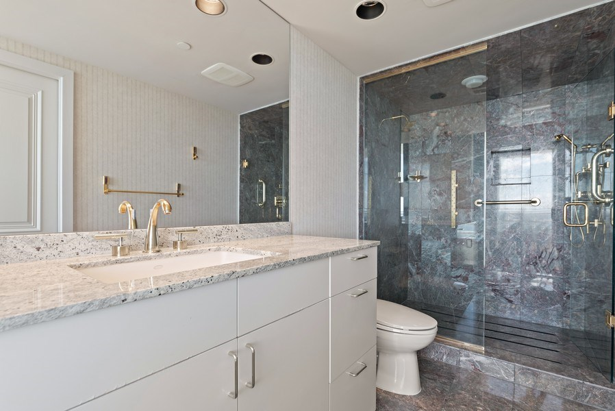 Real Estate Photography - 1500 S Ocean Blvd, S1103/4, Boca Raton, FL, 33432 - Master Bathroom