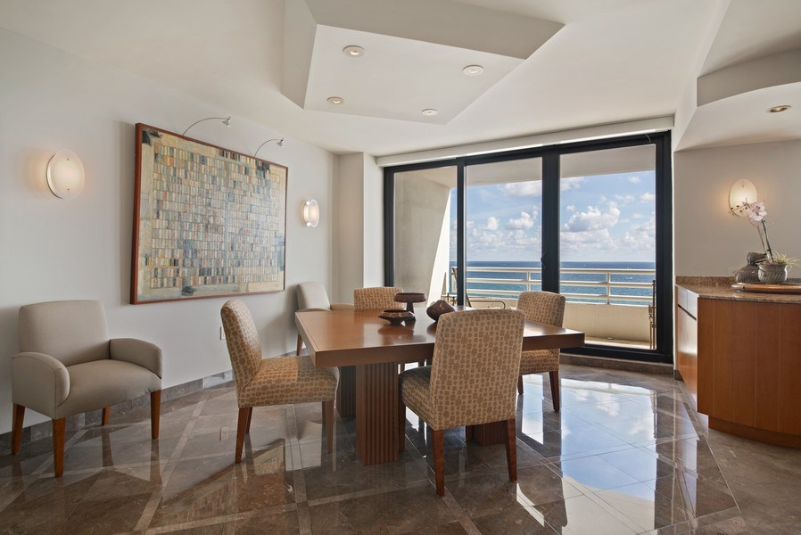 Real Estate Photography - 1500 S Ocean Blvd, S1103/4, Boca Raton, FL, 33432 - Dining Room