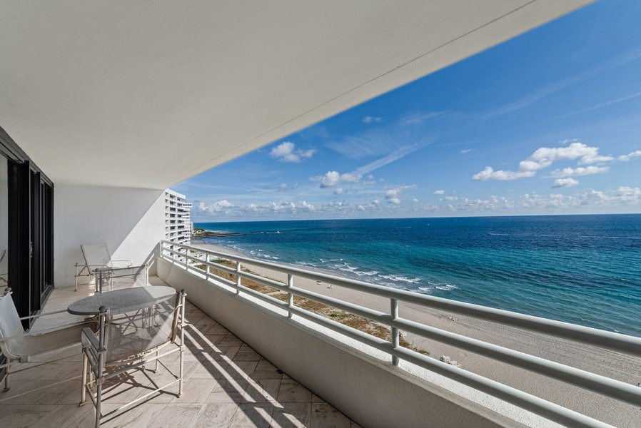 Real Estate Photography - 1500 S Ocean Blvd, S1103/4, Boca Raton, FL, 33432 - Patio