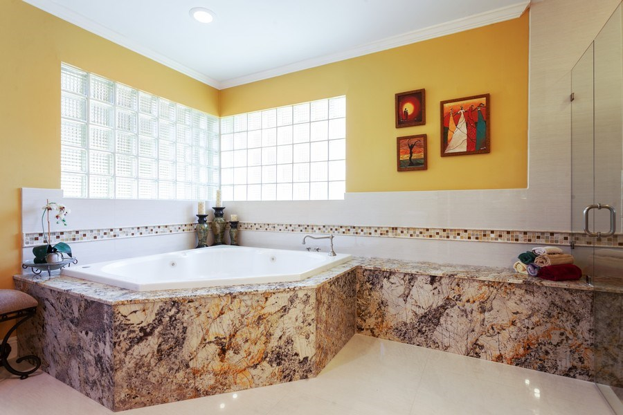 Real Estate Photography - 7781 SW 162nd St, Palmetto Bay, FL, 33157 - Master Bathroom