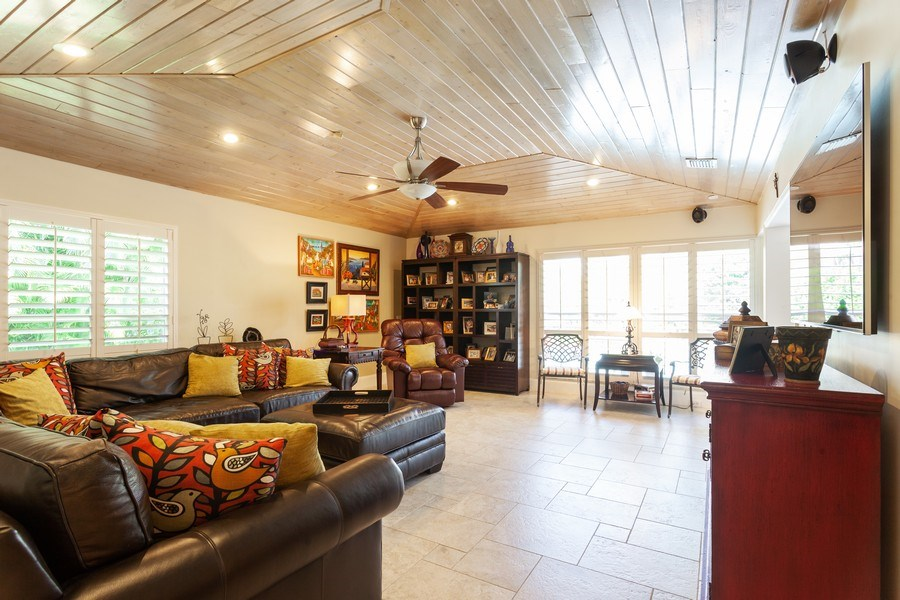 Real Estate Photography - 7781 SW 162nd St, Palmetto Bay, FL, 33157 - Family Room