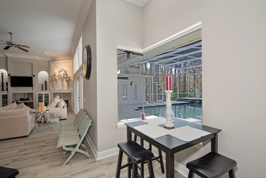 Real Estate Photography - 297 LESLIE LANE, LAKE MARY, FL, 32746 - BREAKFAST NOOK OVERLOOKING POOL
