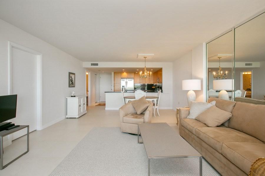 Real Estate Photography - 177 Ocean Lane Dr, Unit 702, Key Biscayne, FL, 33149 - Living Room