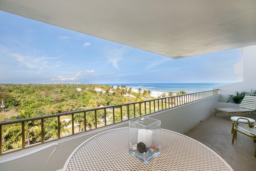 Real Estate Photography - 177 Ocean Lane Dr, Unit 702, Key Biscayne, FL, 33149 - Balcony