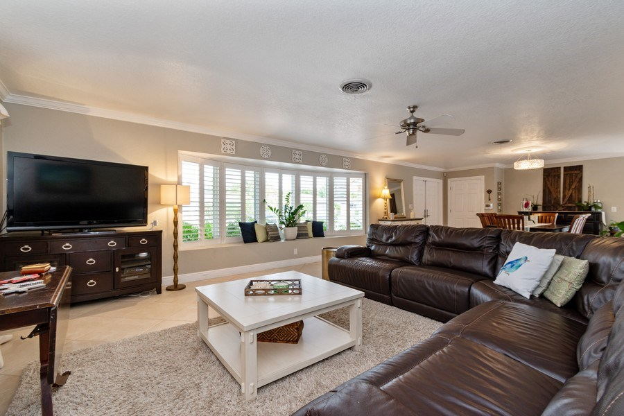 Real Estate Photography - 2140 NE 63rd St, Fort Lauderdale, FL, 33308 - Living Room