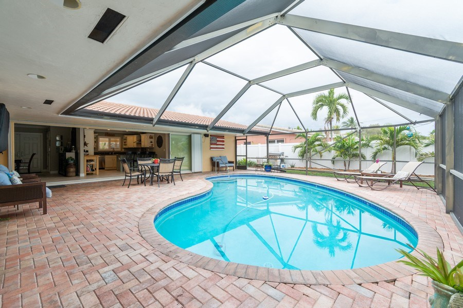 Real Estate Photography - 2140 NE 63rd St, Fort Lauderdale, FL, 33308 - Pool