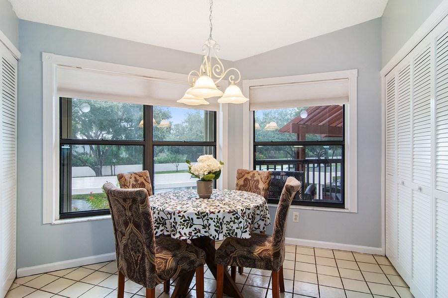 Real Estate Photography - 6080 SE Martinique Dr, Apt 202, Stuart, FL, 34997 - Breakfast Nook