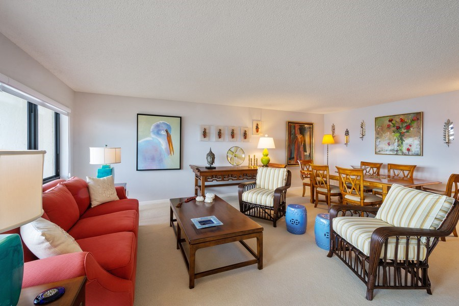 Real Estate Photography - 4900 N Ocean Blvd, 1117, LAUDERDALE BY THE SEA, FL, 33308 - Living Room