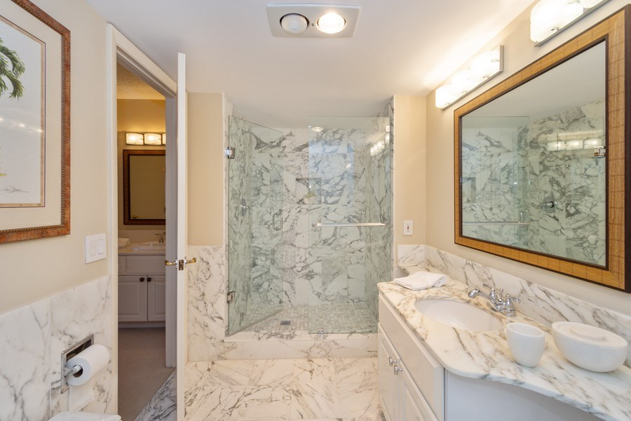 Real Estate Photography - 4900 N Ocean Blvd, 1117, LAUDERDALE BY THE SEA, FL, 33308 - Master Bathroom