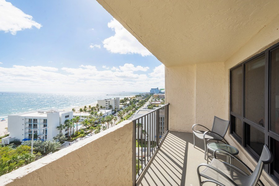 Real Estate Photography - 4900 N Ocean Blvd, 1117, LAUDERDALE BY THE SEA, FL, 33308 - Balcony