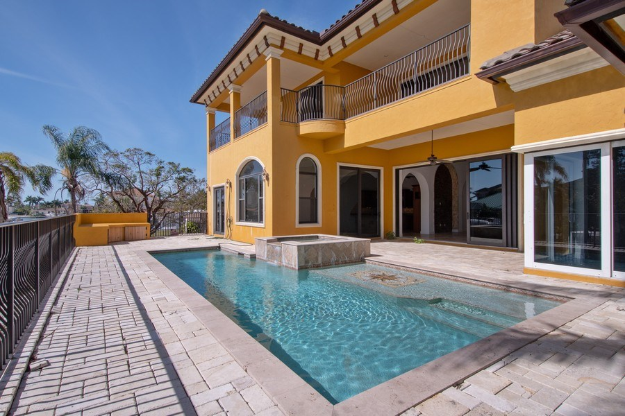 Real Estate Photography - 494 Segal Ave, Naples, FL, 34108 - Pool