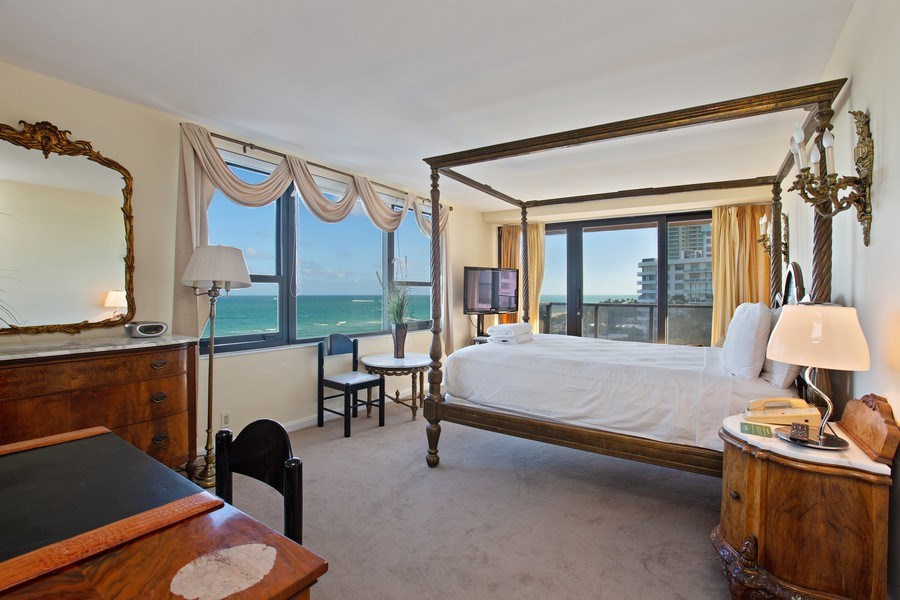 Real Estate Photography - 5225 Collins Ave, Unit 801, Miami Beach, FL, 33140 - Master Bedroom