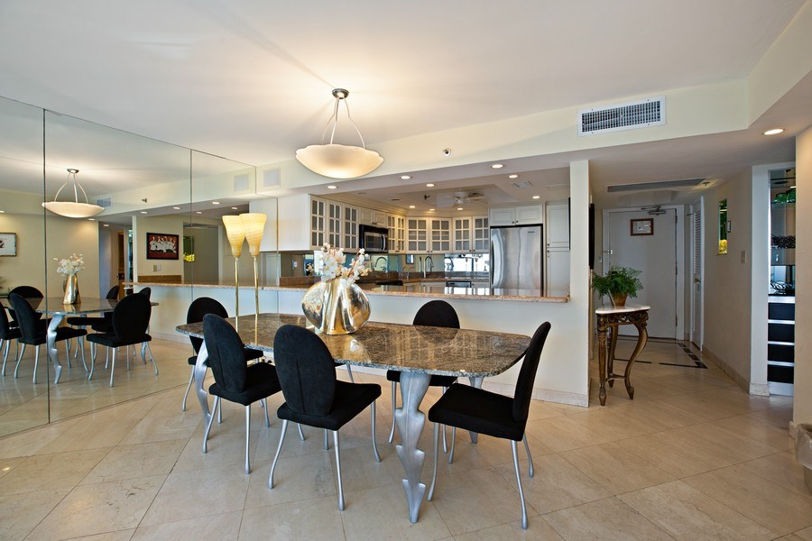 Real Estate Photography - 5225 Collins Ave, Unit 801, Miami Beach, FL, 33140 - Dining Room