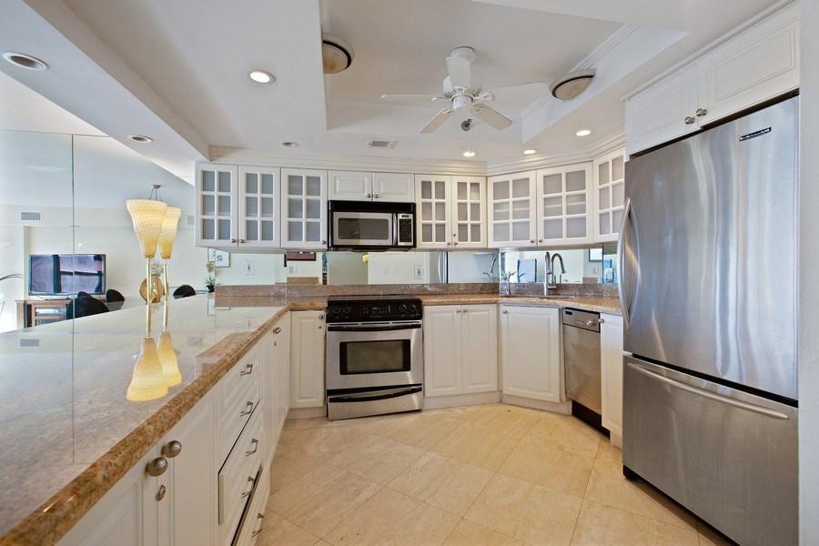 Real Estate Photography - 5225 Collins Ave, Unit 801, Miami Beach, FL, 33140 - Kitchen