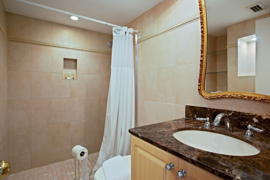 Real Estate Photography - 5225 Collins Ave, Unit 801, Miami Beach, FL, 33140 - Half Bath