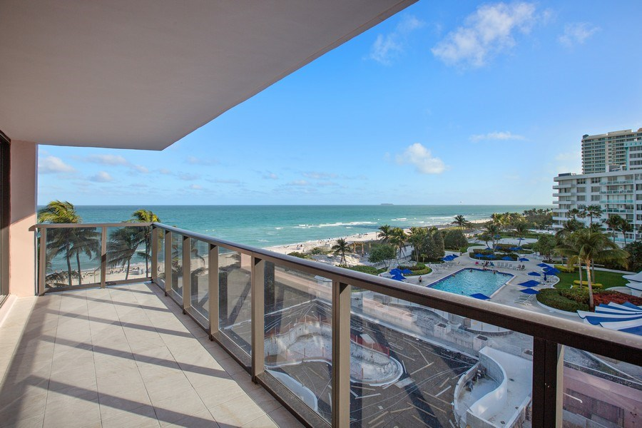 Real Estate Photography - 5225 Collins Ave, Unit 801, Miami Beach, FL, 33140 - Balcony