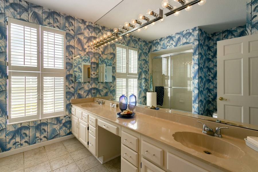 Real Estate Photography - 8373 Kelso Drive, Palm Beach Garden, FL, 33418 - 2nd Bathroom
