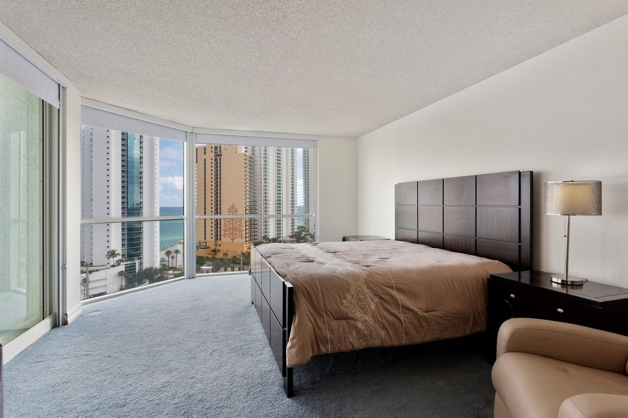 Real Estate Photography - 16400 Collins Ave, 1641, Sunny Isles Beach, FL, 33160 - Master Bedroom