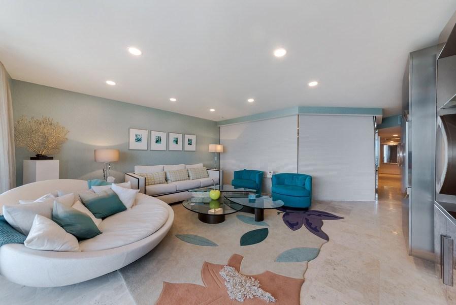 Real Estate Photography - 1400 S Ocean Blvd, Unit N604, Boca Raton, FL, 33432 - Living Room