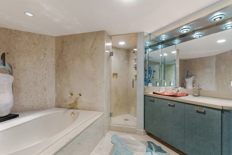 Real Estate Photography - 1400 S Ocean Blvd, Unit N604, Boca Raton, FL, 33432 - Master Bathroom