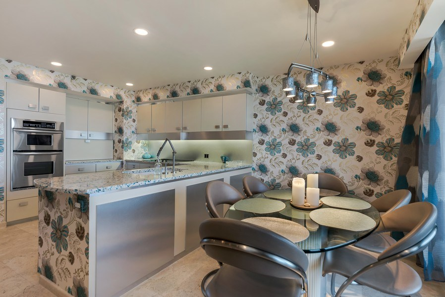 Real Estate Photography - 1400 S Ocean Blvd, Unit N604, Boca Raton, FL, 33432 - Kitchen / Breakfast Room