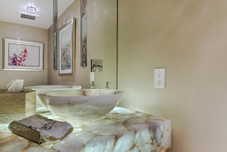 Real Estate Photography - 1400 S Ocean Blvd, Unit N604, Boca Raton, FL, 33432 - Powder Room